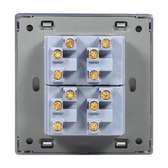 2 Way Modern Type Electrical Push Buttons Wall Light Switch (4Gang) - intl - 4