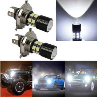 2 X H4 SMD CREE LED Fog DRL Driving Car Head Light Lamp Bulbs White Super Bright - intl