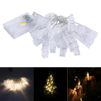 20 LED Power Photo Peg Clip Shape Fairy String Light - intl