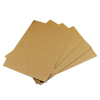 20 Pcs Blank Greeting Card Kraft Paper Postcard DIY Hand PaintedGraffiti Message Card - intl