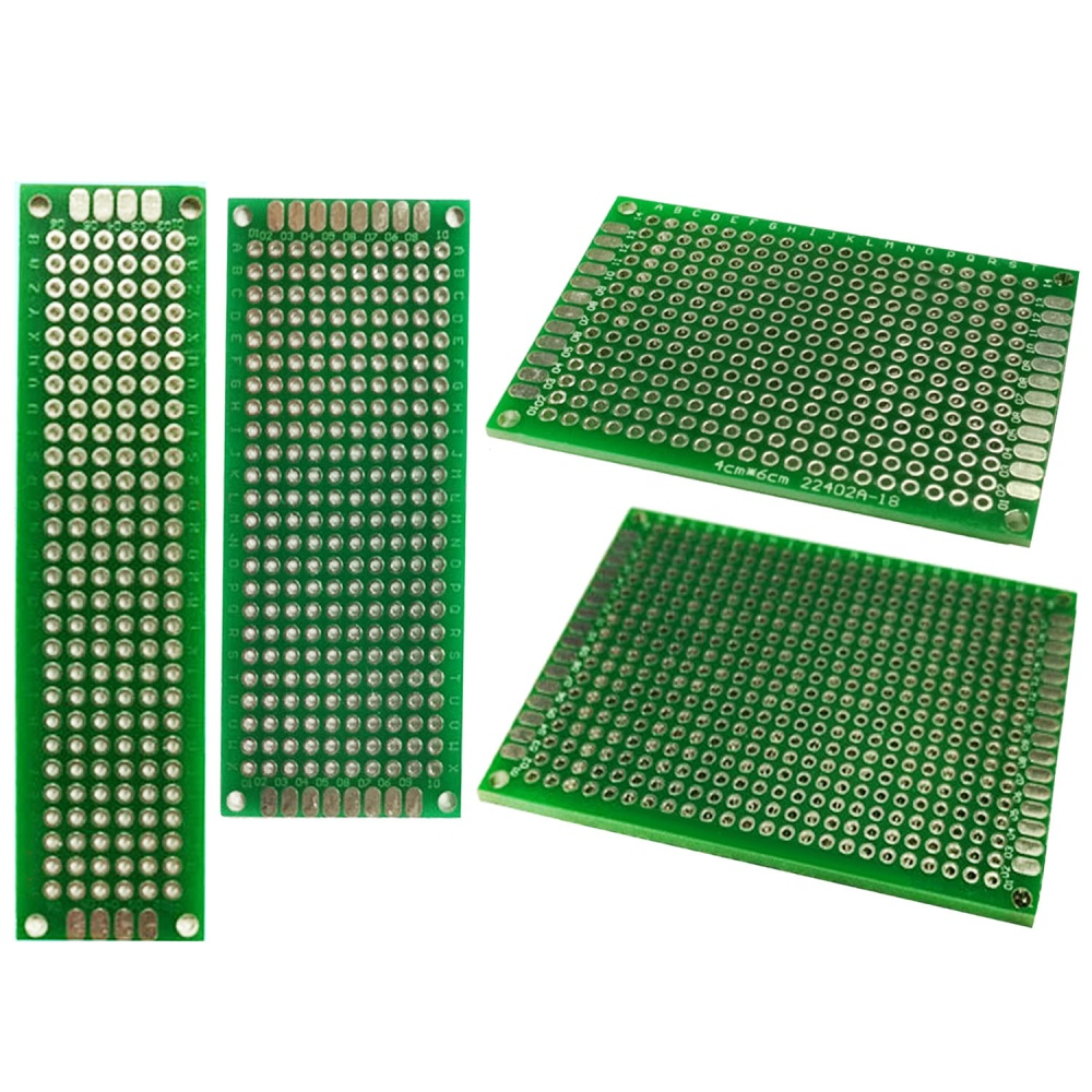 Philippines 20 Pcs Double Sided Pcb Board Prototype Kit Universal Details About 12 Prototyping Printed Circuit Breadboard Fiberglassboard 4 Sizes 5x7 4x6 3x7 2x8cm