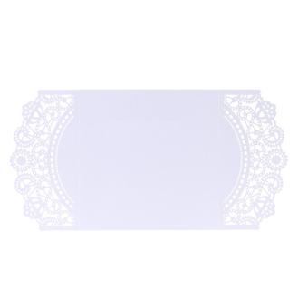 20 pcs White Laser Cut Wedding Celebration Birthday Party Invitation Card - 5
