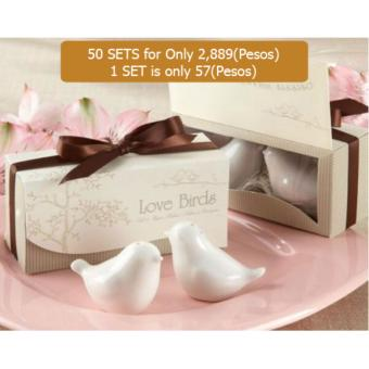 20 sets Dove Salt and Pepper Shaker Wedding Favor Wedding Partysupplies wedding gifts for guests wedding souvenirs Price Philippines