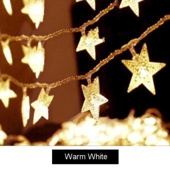 200CM Fairy Light 20stars Led string Garlands strip Battery powered holiday christmas New Year Decor XR - intl - 2