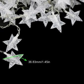 200CM Fairy Light 20stars Led string Garlands strip Battery powered holiday christmas New Year Decor XR - intl - 4