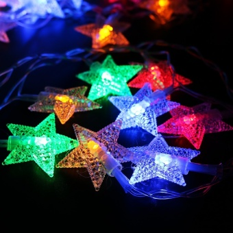 200CM Fairy Light 20stars Led string Garlands strip Battery powered holiday christmas New Year Decor XR - intl
