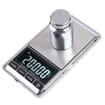 200g x 0.01g Mini LCD Digital Scale Portable Electronic PocketScales Diamond Balance Jewelry Weighing Tools - intl