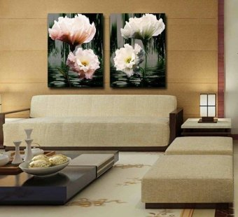 2016 Home wall 2Panels Huge Modern Painting Decorative Living RoomCombination Paint Picture Canvas Print Art Flower Tree style(Noframe)