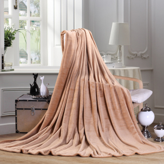 2016 Luxury Quilting Flannel Blanket Camel Color Comforter Soft - intl - 3