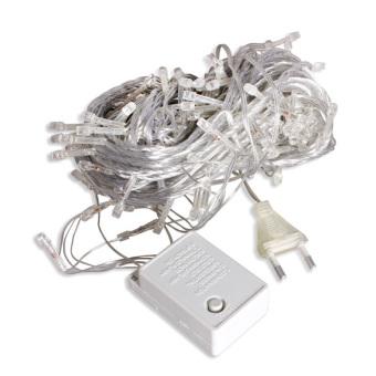 20m 200 LED String Light Strip Lamp White for Garden Christmas 220V AC