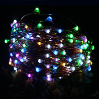 20M 200LED 8Modes Copper Wire Battery Operated Led String LightChrismas Outdoor Fairy Lights Decoration Wedding Garland - intl - 4