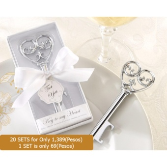 20pcs Key to my Heart Bottle opener wedding favors weddingaccessories wedding souvenirs Price Philippines
