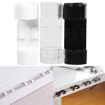 20pcs Wire Tidy Drop Clip Organizer Adhesive Cable Management Clamp(Transparent) - intl