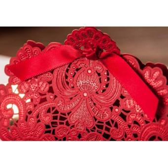 20sets Wedding favors Red Elegant Lace Design Wedding/Events/Party/Special Occasion Paper Favor Box with Ribbon Gift Box - 3