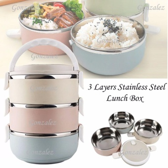 Price List New Two Layer Stainless Steel Lunch Box Orange Check