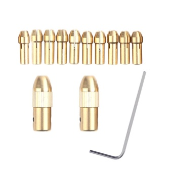 2+10pcs 0.5-3.22mm Micro Twist Drill Kit Chuck Electric Drill BitCollet - intl
