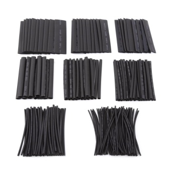 218pcs Halogen-free 2:1 Heat Shrink Tubing Wrap Cable Sleeve FlameRetardant Shrinkable Tube - intl