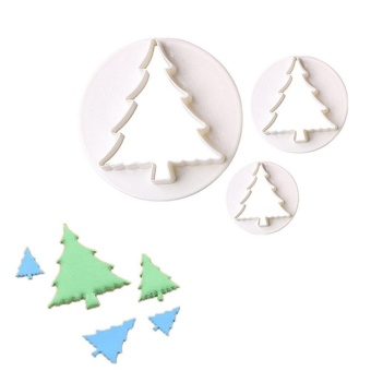 22 pcs/set Merry Christmas Cookie Mold Plastic Sled Tree Snow Leaf Bell Shape Cake Cutters Biscuit Cookie Decorating Mold Set - intl - picture 2