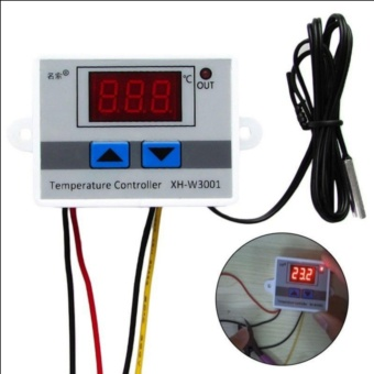 220V Digital LED Temperature Controller 10A Thermostat Control Switch Probe New - intl
