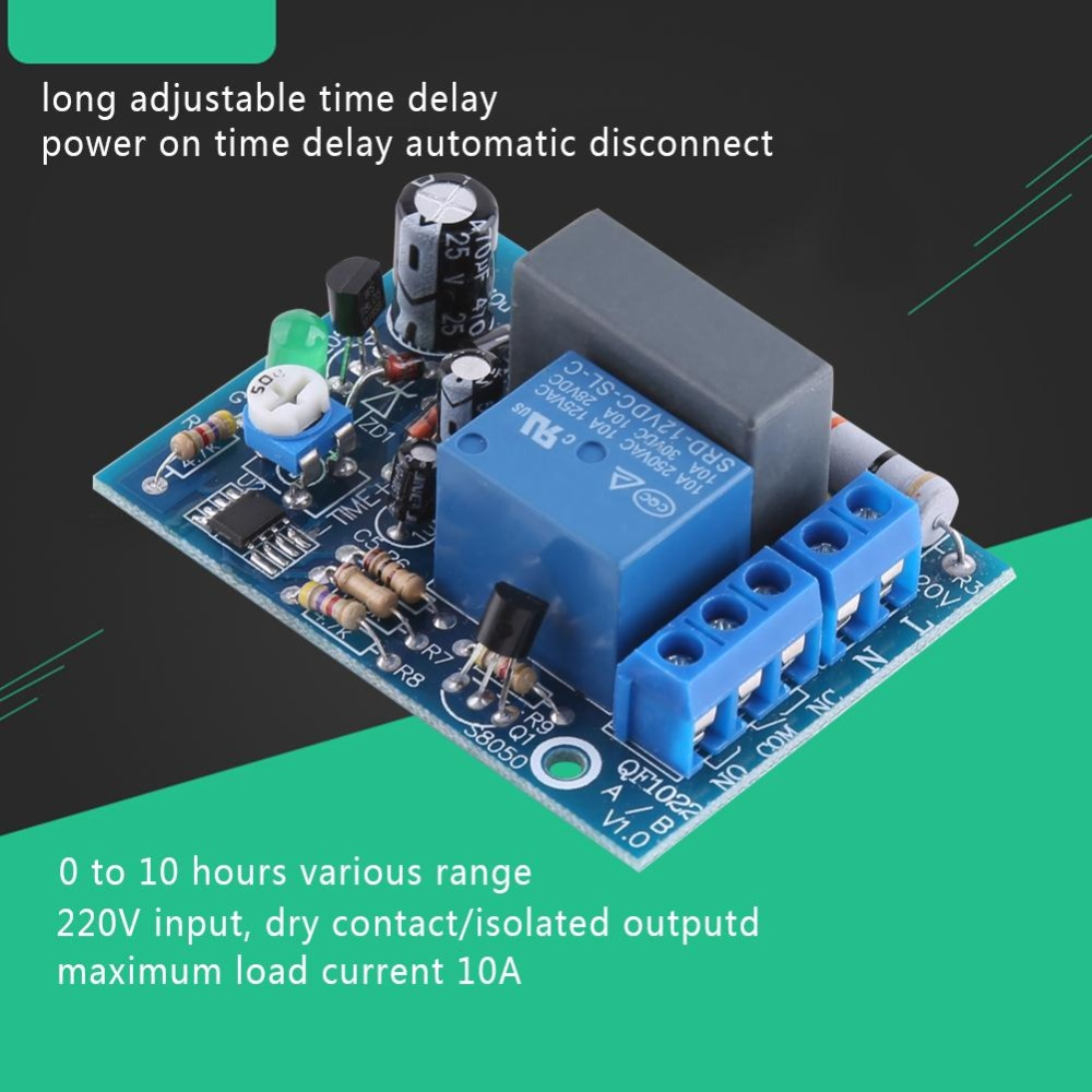 Dc 12v Delay Relay Time Turn On Off Vibration Switch Module Intl 1pcs 220vac Adjustable Timer Moduleload 010hr