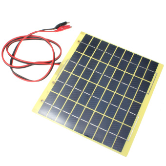 220x200mm 12V 5W Solar Panel Fit Car Battery Trickle Charger Backpack Power - Intl