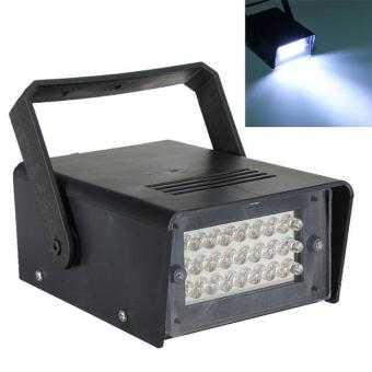 24 LED Strobe White Lights DJ Disco Operated Party Stage Lighting -intl