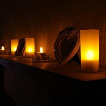 24pc LED Tea Light Candles Realistic -Powered Flameless Candles -intl