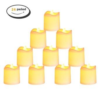 24PCS Candle Lights Flameless LED Tea Lights for Christmas Decor Party Wedding(Warm White)