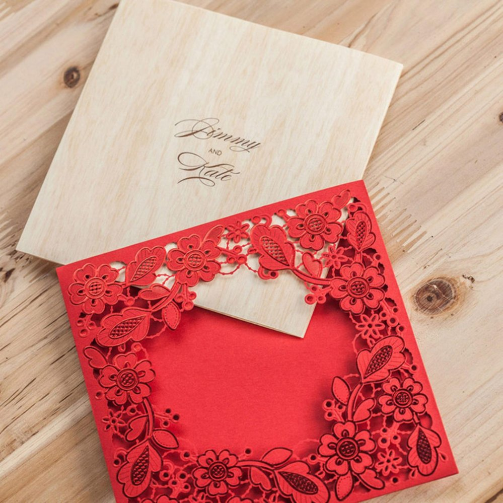 Luxury Wedding Invites With Lace Illustration - Invitations and ...