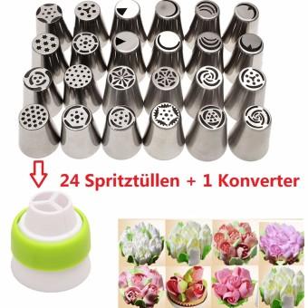 24PCS Russian Icing Piping Nozzles Tips Cake Decorating Sugarcraft Pastry Tool - 3