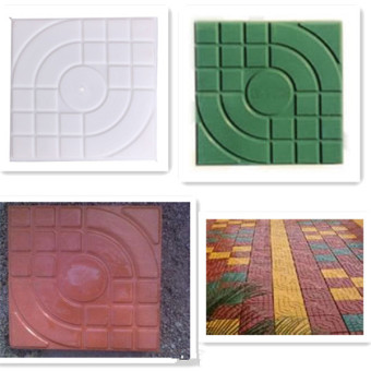 25*25*4CM Garden Path Concrete Plastic Brick Mold Paving Pavement Walkway Stone Pavement Mold For Making Pathway
