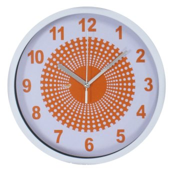 2A Wall Clock 1421 (Orange/White)