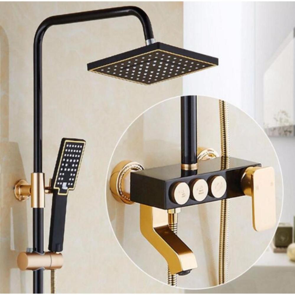 2Cool Shower Head Set Luxury Design Titanium Aluminum 8 inch ...
