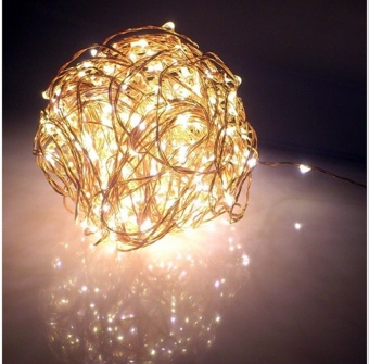 2M 4.5V LED Copper Wire String Lights Lamps AAA Battery Operated(Warm White) - intl Price Philippines