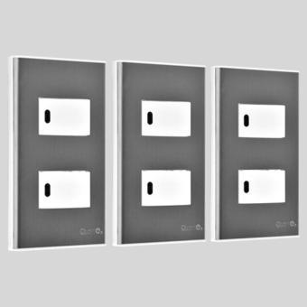 2pcs 1-Way Stainless Illum. Switch-SP2-S14-PK-3set - 2