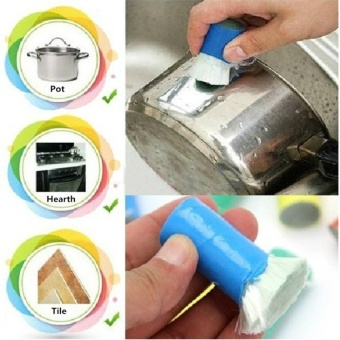 2PCS Best Magic Stainless Steel Kitchen Metal Rust Remover Cleaning Detergent Stick Wash Brush Pot Kitchen Cooking Cleaning Tools - intl - intl