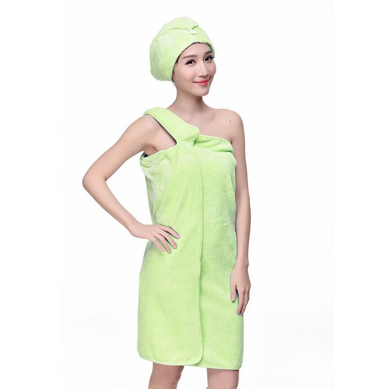 ... 2PCS Quick Dry Coral velvet Towel Hair Magic Drying Turban Wrap Hat Candy Color Cap Spa ...