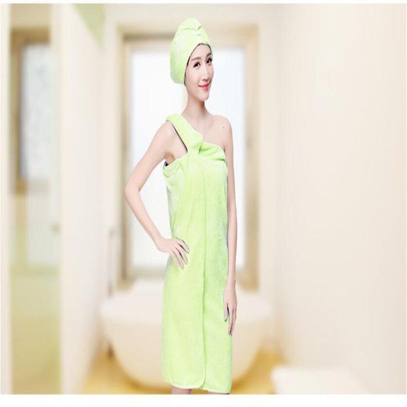 2PCS Quick Dry Coral velvet Towel Hair Magic Drying Turban Wrap Hat Candy Color Cap Spa ...