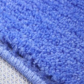 2Pcs Set Solid Color Bath Mat Toilet Non Slip Bathroom RugWaterproof Floor Carpet - intl - 5