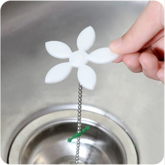 2Pcs Shower Drain Hair Catcher Stopper Clog Sink Strainer BathroomAccessories Cleaning Protector Filter Strap Pipe Hook - intl - 2