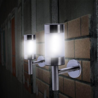 2pcs Stainless Steel Solar Powered LED Wall Light - intl - 3