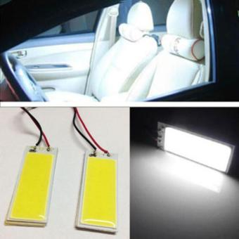 2pcs Xenon HID White 36 COB LED Dome Map Light Bulb Car Interior Panel Lamp 12V - intl