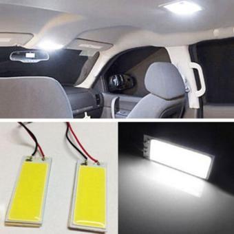 2pcs Xenon HID White 36 COB LED Dome Map Light Bulb Car Interior Panel Lamp 12V - intl - 2