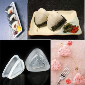 2PCS/1 Set Sushi Mold Onigiri Rice Ball Bento Press Maker Mold DIYTool - intl