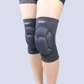 2pcs/lot Sponge Knee Support Black Soccer Knee Pads Protector Sports Fitness Kneepads Goalkeeper Football Volleyball Knee Support - BLACK - intl