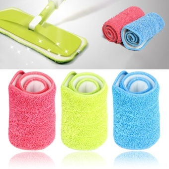 3 Colors Replacement Microfiber mop Washable Mop head Mop Pads Fit Flat Spray Mops Household Cleaning Tools - intl