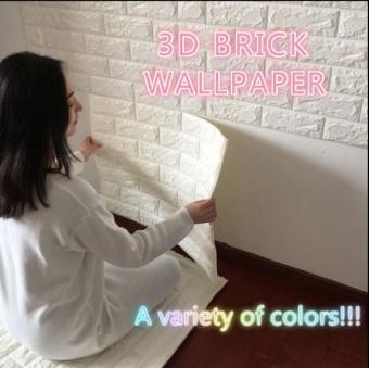 3 d wall stickers waterproof adhesive wallpaper adhesive wallpaper- intl - 2