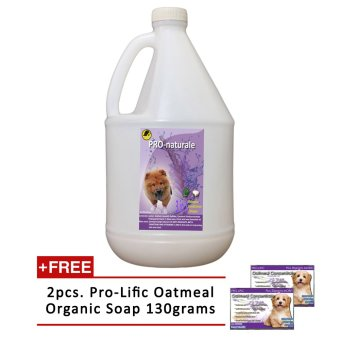 3 in 1 Shampoo, Conditioner and Cologne 1gallon (Lavender) withFree 2pcs. Prolific Oatmeal Organic Soap 130g