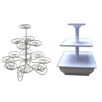 3-Layer Cupcake Stand Free 3-Tier Snack Server