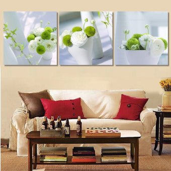 3 Panel Modern Abstract Flower Painting On Canvas Wall Art Cuadros Flowers Picture Home Decor For Living Room No Frame